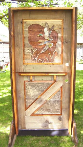Dutch Door Ducks - Made from aged barn wood