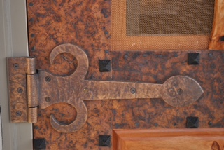 Special order hinges, lock and door handle add that unique and customized look.