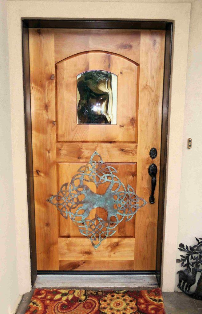 Metal on Panel Front door with Window