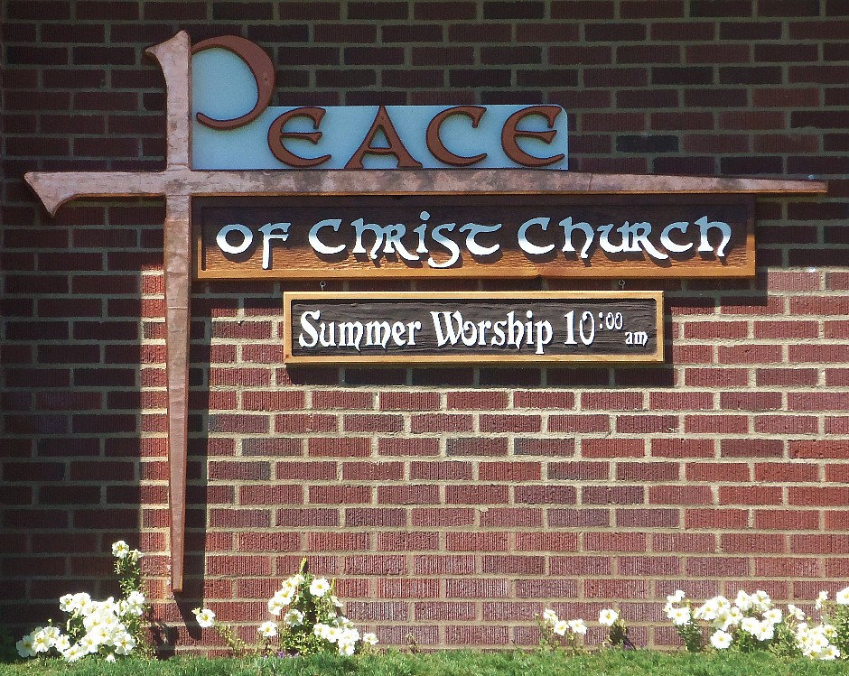 Peace of Christ Church Sign