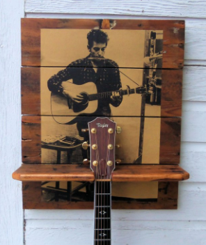 Your personalized guitar-rack captures that moment in time with the music you identify with and love most.