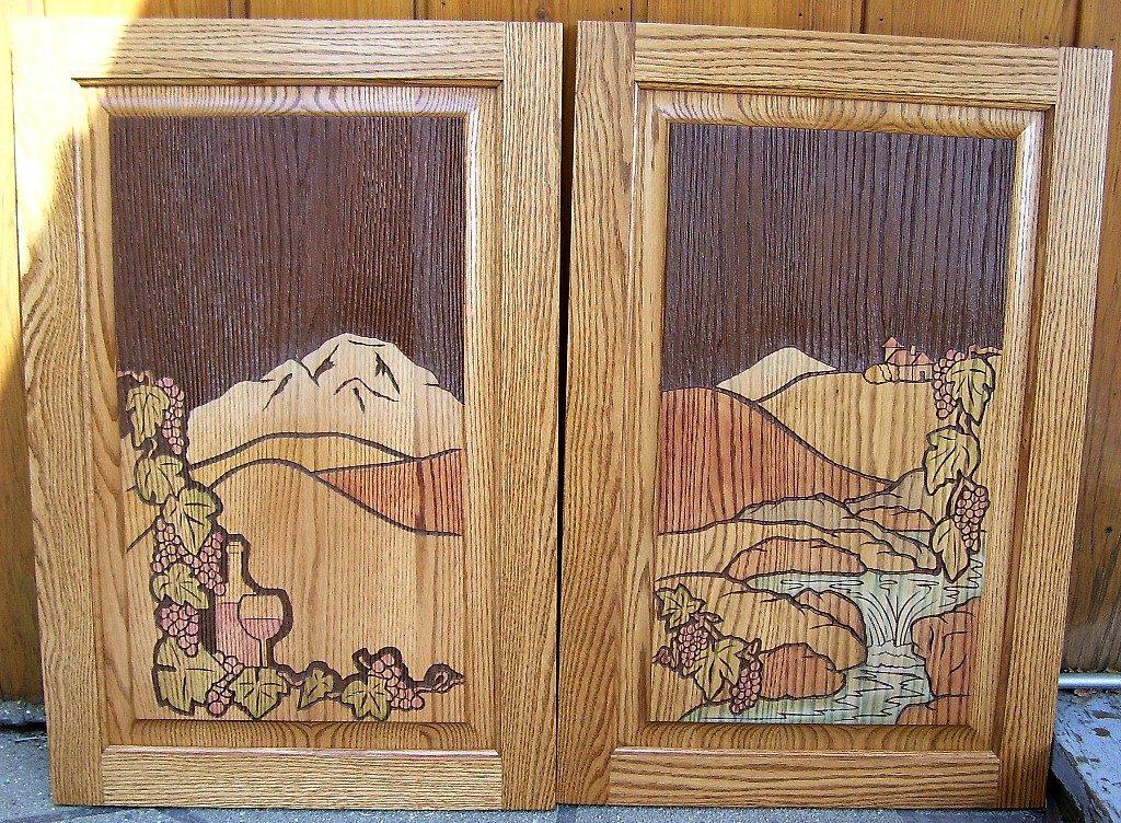 Sand Blasted Custom Cabinet doors.