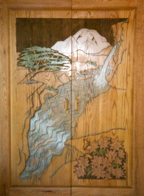 Waterfall Canyon Custom Cabinet Doors.
