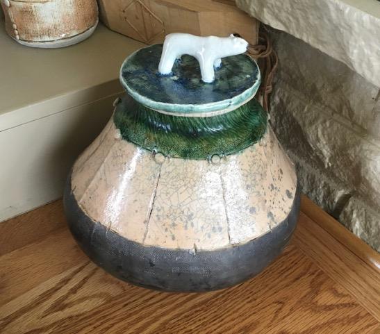 Jar with Bear Handle Lid