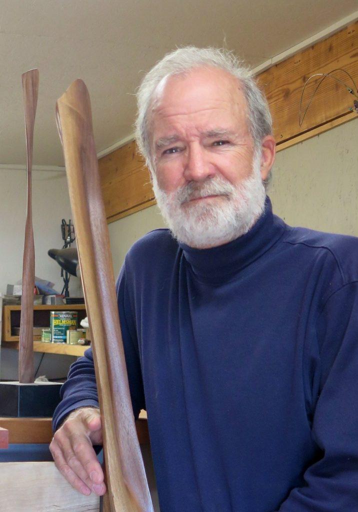 Randal Leek in his workshop in Yakima, WA.