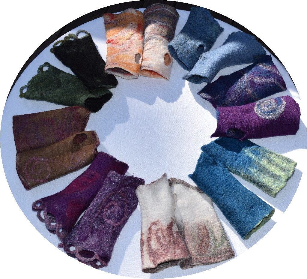 Fingerless mittens - many colors and sizes to choose from  $25 for a pair.