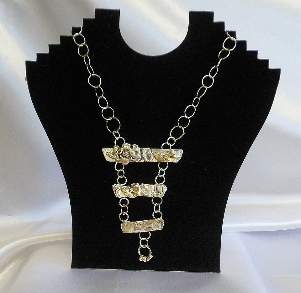 Heirloom Necklace, Silver & Gold