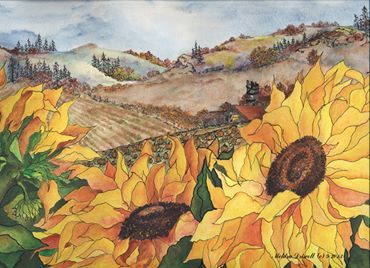 "Sunflower 8 x 10"""