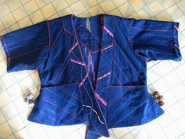 """""""Pinkie,"""" front view.  Most of the fabric was found in Southwest China."""