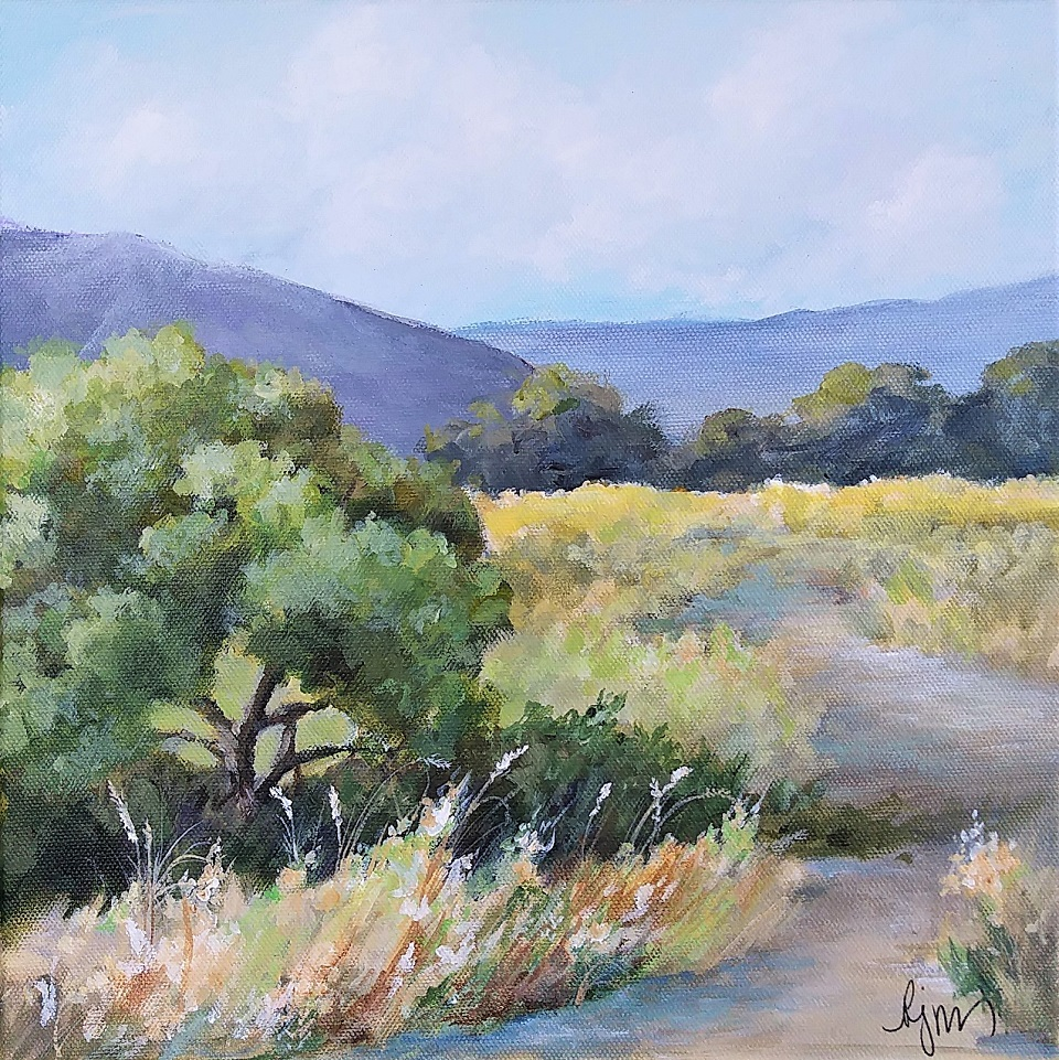 Canyon Path ix 12x12 and is $150.00.