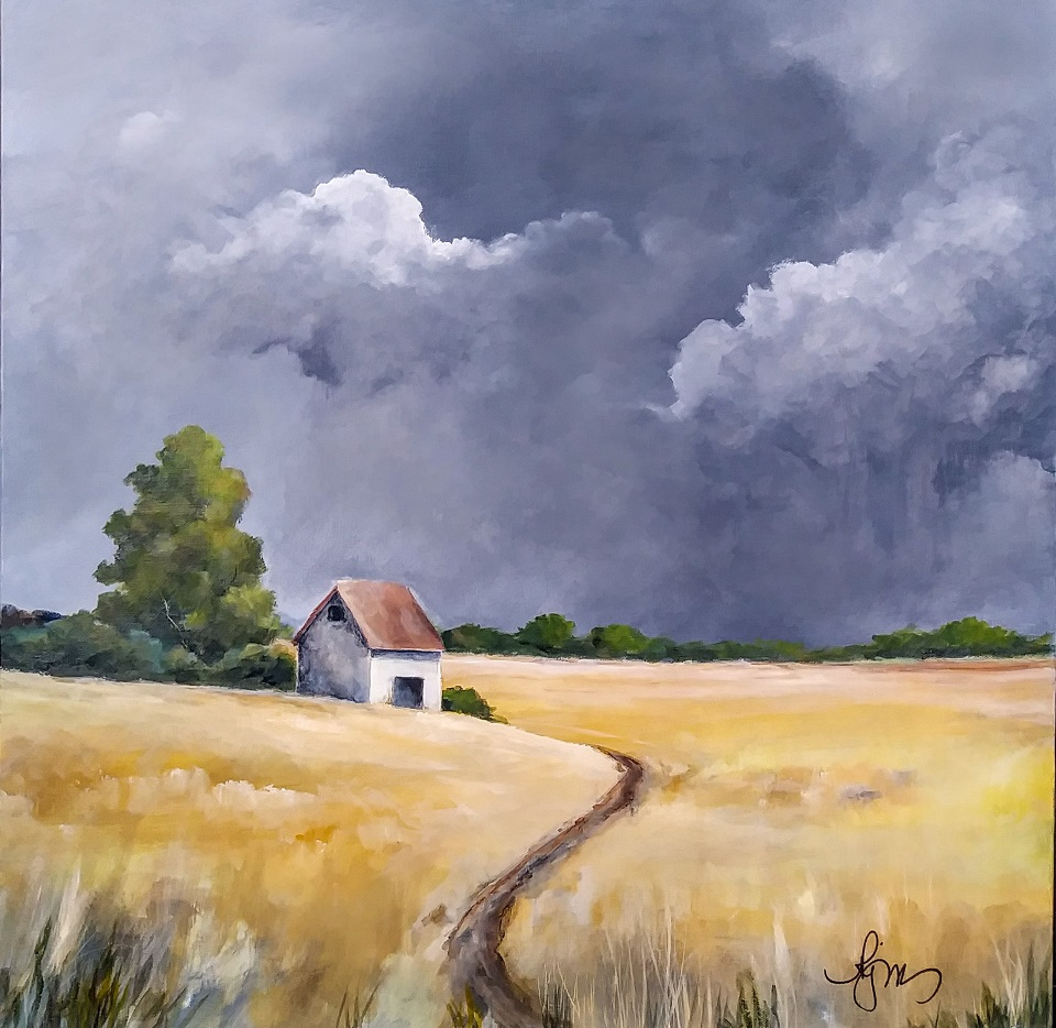 Storm Over the Palouse is 24x24 and is $150.00