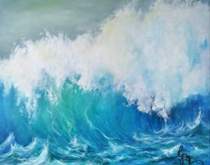 Waves 6 is 16x20 and is $200.00