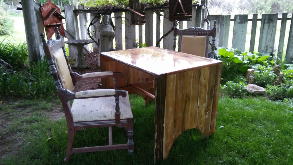 Retro Table with Antique chairs