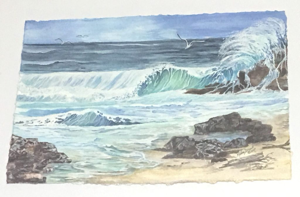 """""""Ocean Flurry"""" was painted after a visit to the Oregon Coast near Cannon Beach"""