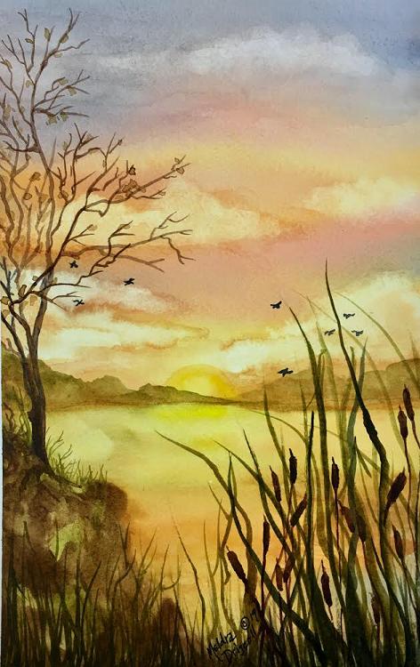 """""""Surise on the Marsh"""" Beginner"""