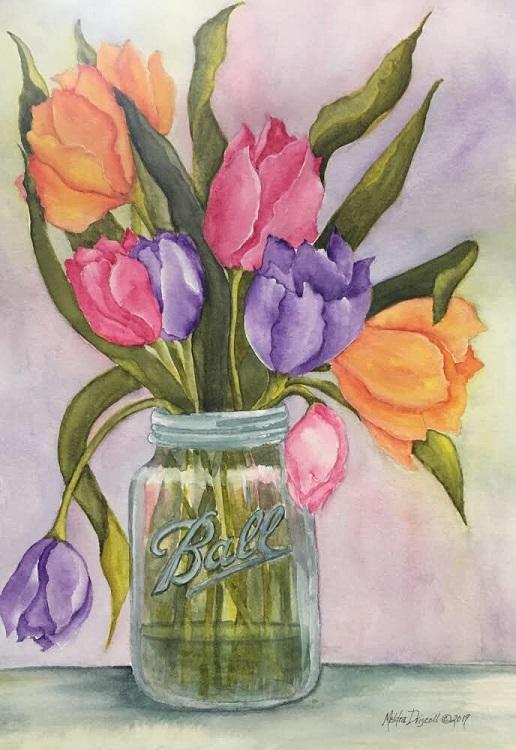 """""""Tulips in a 1948 Jar"""" Intermediate"""