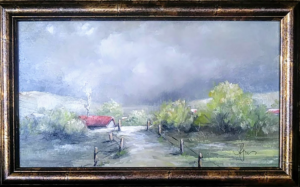 """Afternoon Tempest 8"""" by 12"""" -$140 (On display at Yakima Steak Company restaurant. )"""