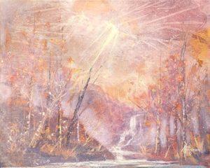 """Autumn Mood Acrylic on Canvas 16 x 20"""" unframed $320"""