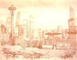 """Coffee Capitol-Seattle Coffee Print on Paper 11 x 14"""" unframed, $37"""