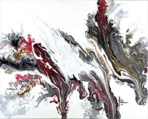 """Decor Flow I Acrylic on Canvas 16 x 20"""" unframed $315"""