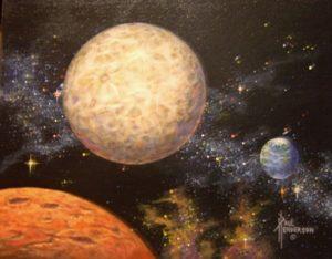 """Earth to Mars Acrylic on Canvas 11 x 14"""" unframed, $290"""