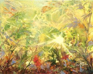 "Eco System Acrylic on Canvas 16 x 20""unframed $280"