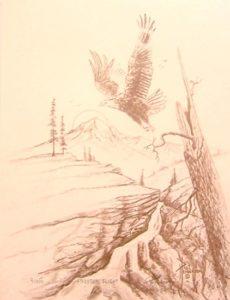 "Freedom Flight Coffee Print on Paper 13.75 x 11"" unframed $37"