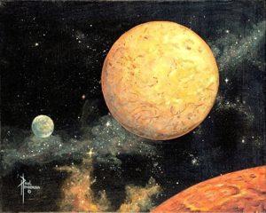 Mars to Earth Acrylic on Canvas 16 x 20, unframed $395