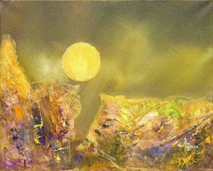 """Rocky Moon Acrylic on Canvas 16 x 20"""" unframed $250"""