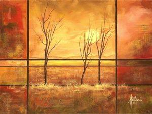"Warm Horizons II Acrylic on Canvas 18 x 24"" — SOLD —"