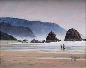 South Cannon Beach I Acrylic on Canvas 8 x 10  unframed $265
