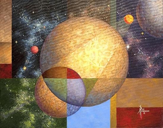 "Spacial Dimensions Acrylic on Canvas 22 x 28"" unframed $785"