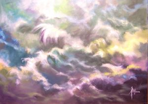 "Stirred Waters II Acrylic on Canvas 18 x 24"" unframed $340"