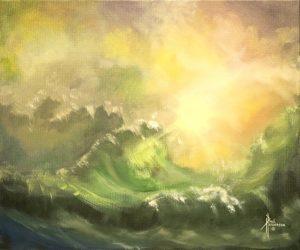 "The Big One Acrylic on Canvas 20 x 24"" unframed $385"