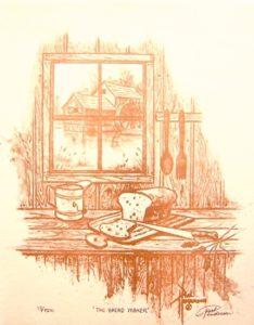 "The Bread Maker coffee on Paper 10.5 x 8"" unframed, $215"