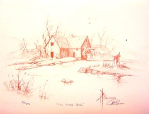 """The Pond Mill coffee on Paper 8.5 x 11"""" unframed $24"""