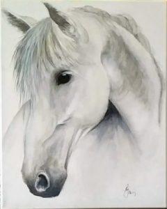Silver Stallion is 20x16 unframed $180