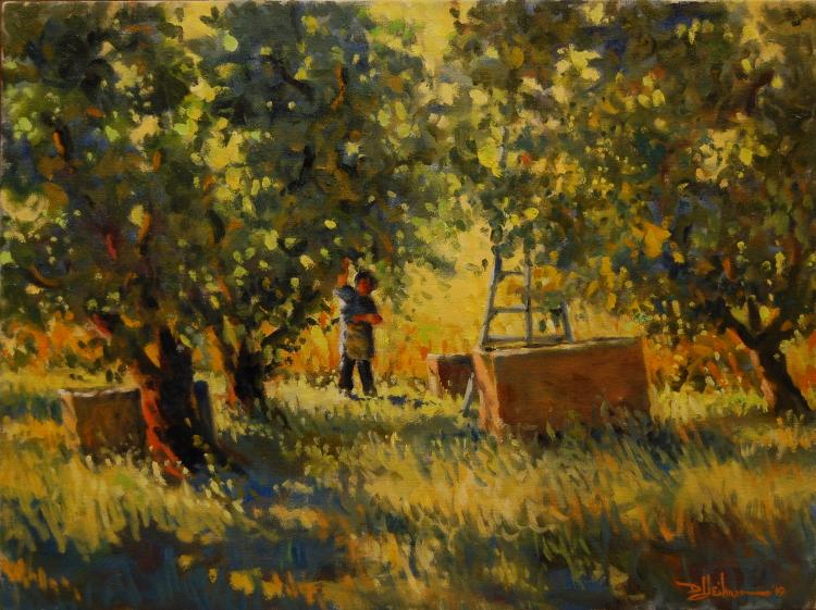"Apple Harvest on a Sunny Day 18"" x 24"" $850"