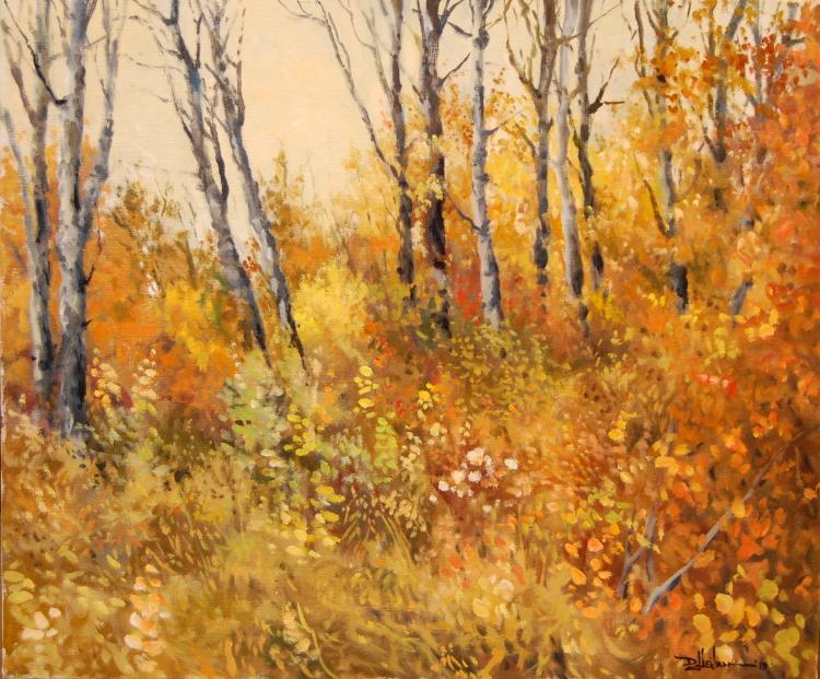 """Autumn Undergrowth 20"""" x 24"""" $950"""