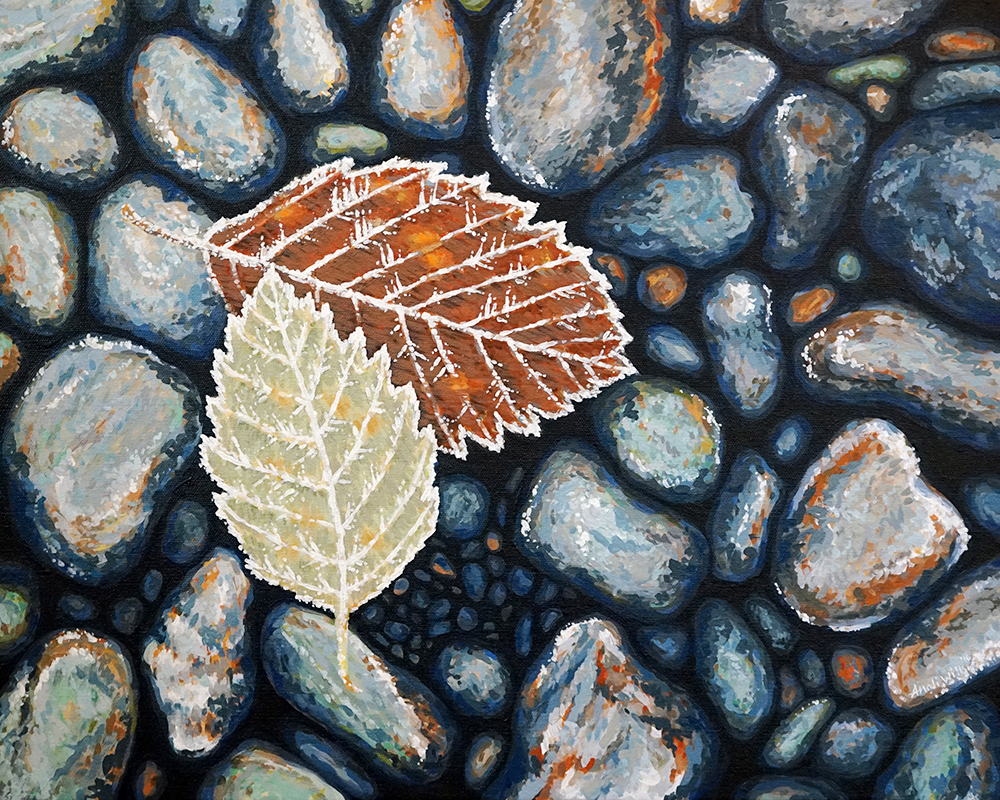 """Frosted Leaves Print - 11""""x14"""", 8""""x10"""" Price: $32, $22"""