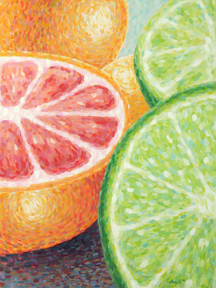 "Bright Citrus Print - 11""x14"", 8""x10"", 5""x7"" Price: $32, $22, $12"