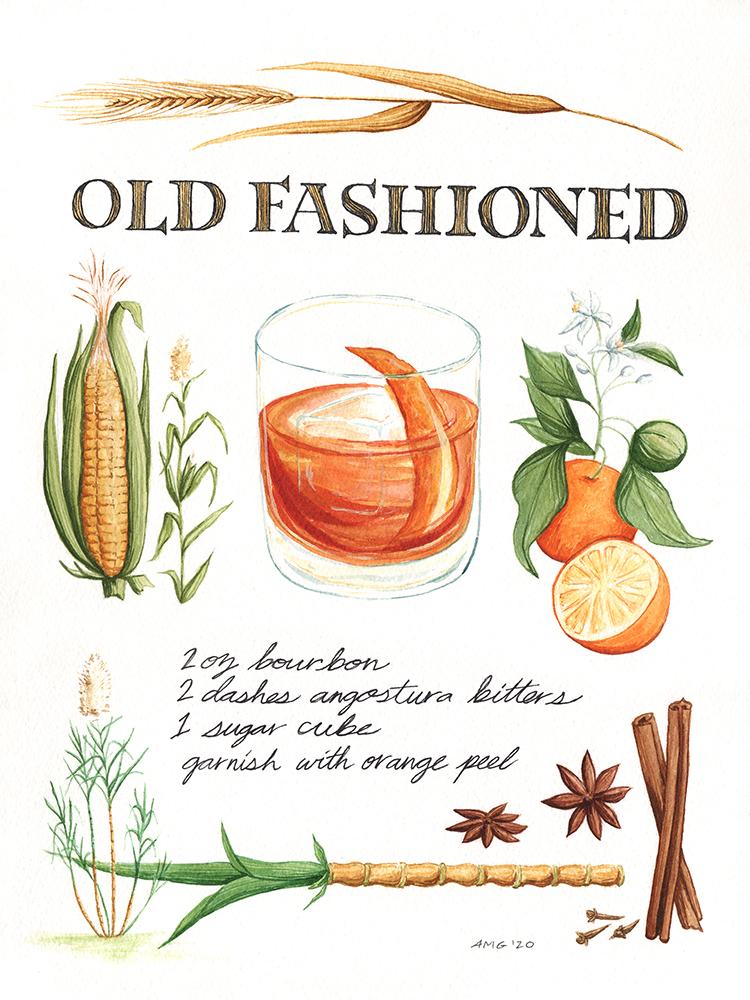 "Old Fashioned Botanical Print - 11""x14"", 8""x10"" Price: $32, $22"