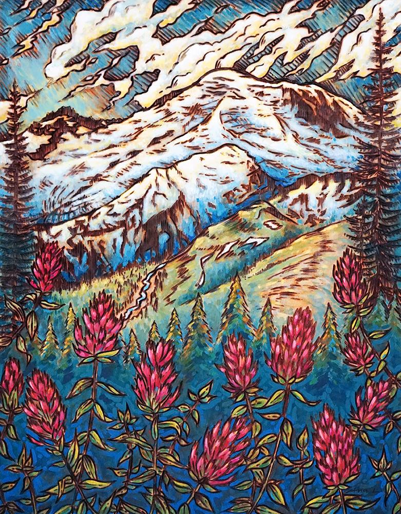 "Mt. Rainier Print - 11""x14"", 8""x10"" Price: $32, $22"