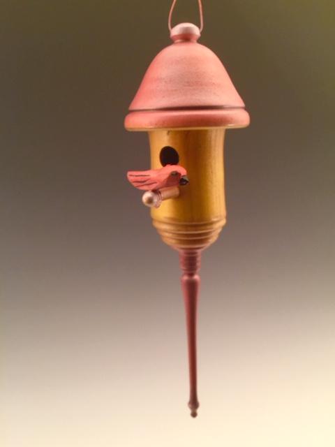 """""""Red bird's House"""" ~3x9"""", birch maple, dogwood by jsbarany@aol.com.  5099495873 $45"""