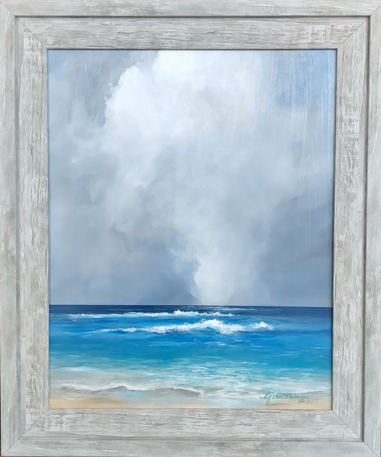 """Distant Squall 16 x 20"""" plus frame.   $185.00"""