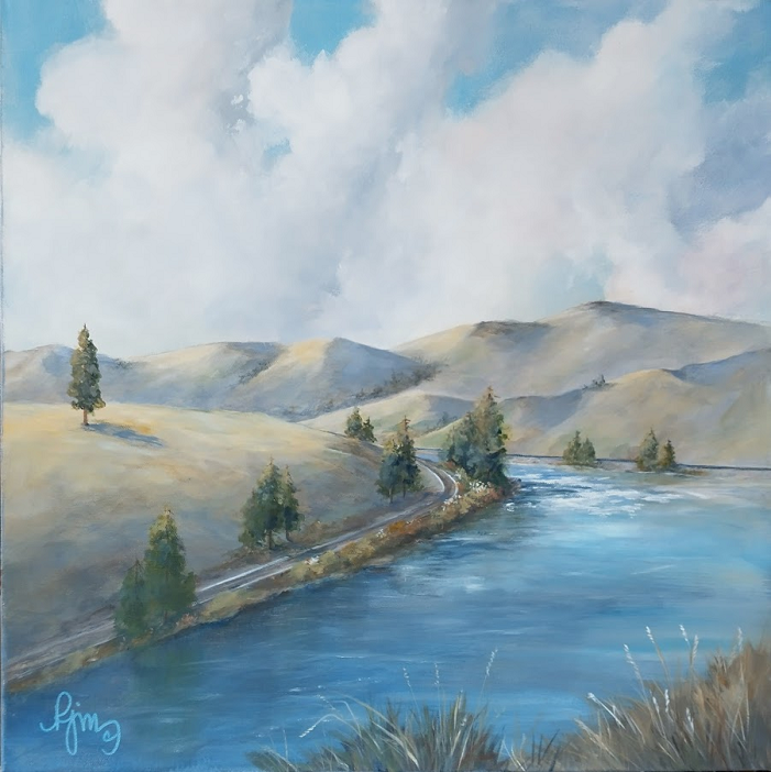 The Canyon 20x20 unframed $200.00